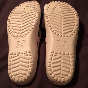 CROCS Shoes - NWT Crocs White with Pink flamingos